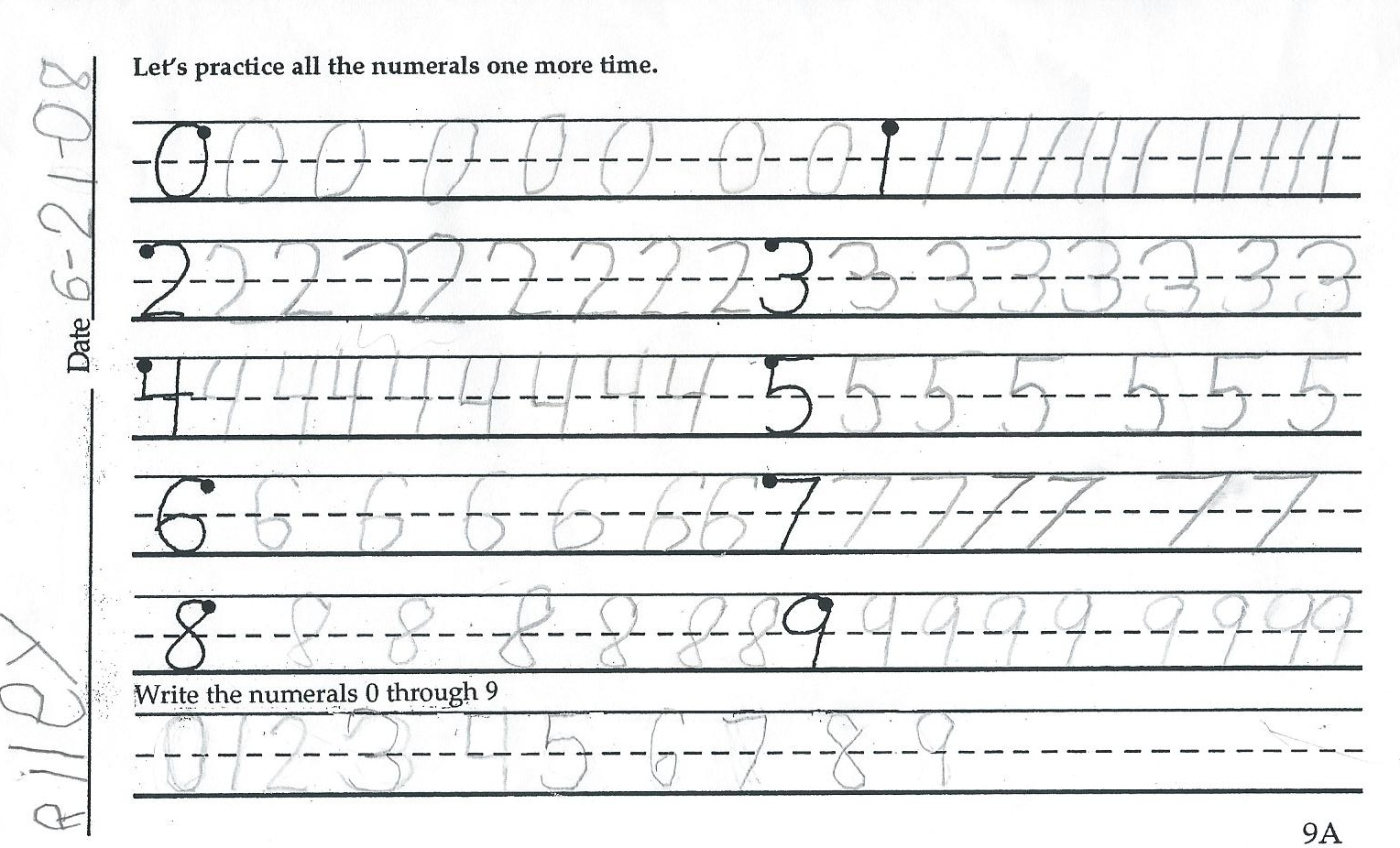 Worksheet Teaching Cursive Handwriting home school support network cursive first handwriting samples number practice