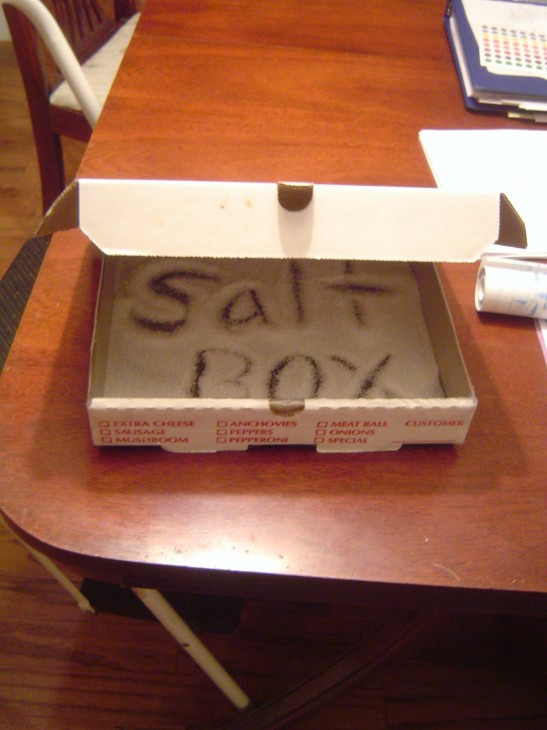 Salt Box for Cursive Teaching